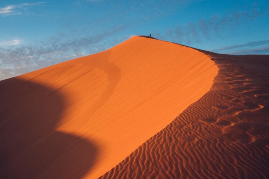 Sunset in Erg Chebbi Desert